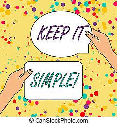 simple., detail., tekst, het tonen, meldingsbord, ...