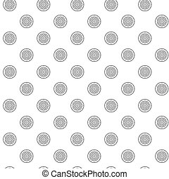 Simple disc roulette for casino games seamless pattern with various icons and symbols on white background flat vector illustration