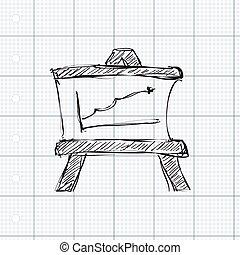 Simple doodle of a blackboard