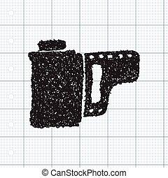Simple doodle of a camera film