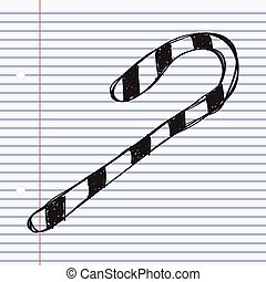 Simple doodle of a candy cane