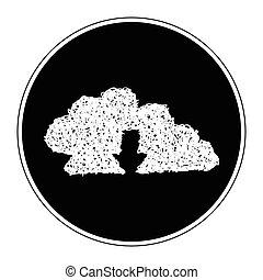 Simple doodle of a cloud