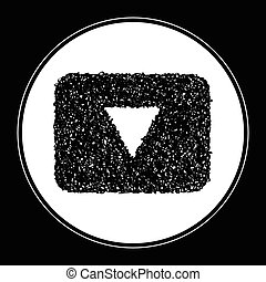 Simple doodle of a down button