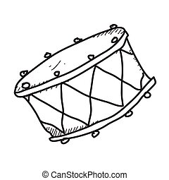 Simple doodle of a drum