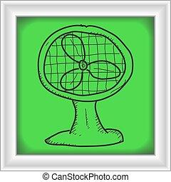 Simple doodle of a fan