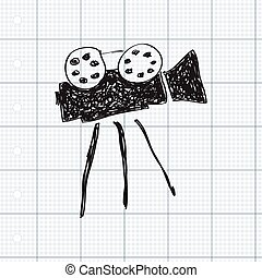 Simple doodle of a film camera