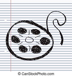 Simple doodle of a film reel