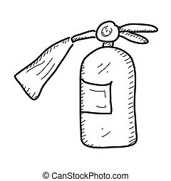 Simple doodle of a fire extinguisher