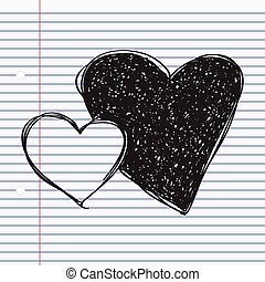 Simple doodle of a heart