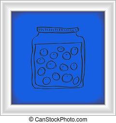 Simple doodle of a jar