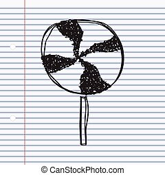 Simple doodle of a lollipop