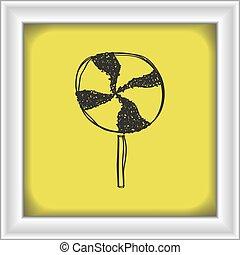 Simple doodle of a lollipop