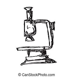Simple doodle of a microscope