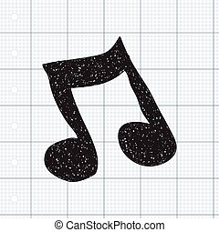 Simple doodle of a music note