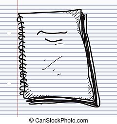 Simple doodle of a notebook