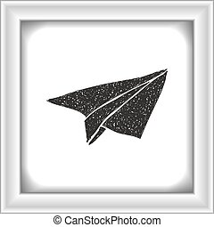 Simple doodle of a paper aeroplane