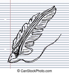Simple doodle of a quill