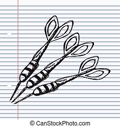 Simple doodle of a set of darts