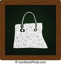 Simple doodle of a shopping bag