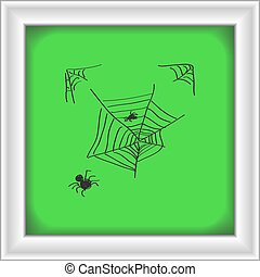 Simple doodle of a spiders web