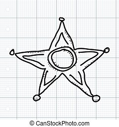 Simple doodle of a star