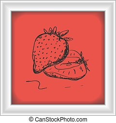 Simple doodle of a strawberry