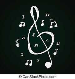 Simple doodle of music symbols