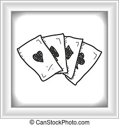 Simple doodle of playing cards