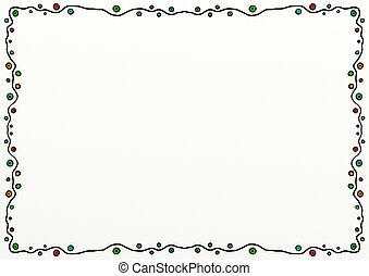 Simple Doodle Page Border Decoration