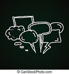Simple doodles of speech bubbles