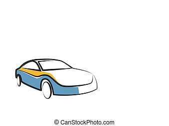simple drawing of a modern sports car - auto sketch