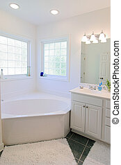 simple elegant white bathroom
