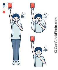 simple, enfermera, man_red-card