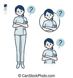 simple, enfermera, woman_question-pose
