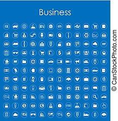 simple, ensemble, icones affaires