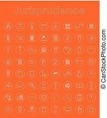 simple, ensemble, jurisprudence, icônes