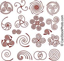 simple, ensemble, spirale, éléments