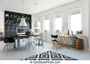 Simple osb espace de travail bureau simple tableau noir