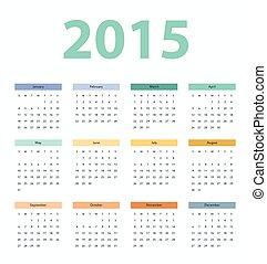 Simple european 2015 year vector ca