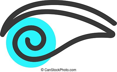 simple eye blue logo. concept of human, security, find,...