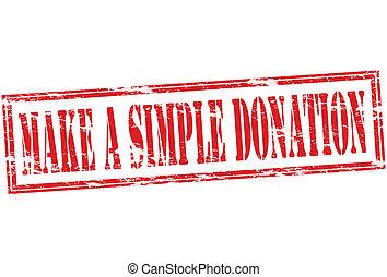 simple, faire, donation