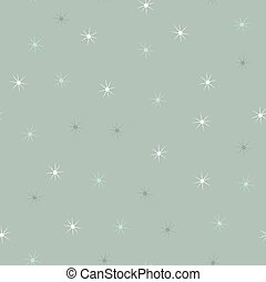Simple falling snowflakes or stars seamless pattern