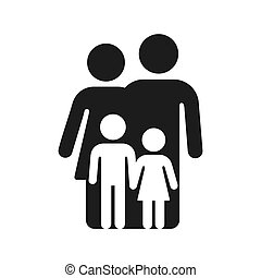 Simple family symbol icon