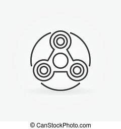 Simple fidget spinner icon