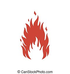 Simple fire icon. Vector illustration.