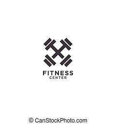 Simple fitness logo design template