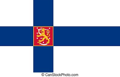 Simple flag of Finland. Correct size, proportion, colors.