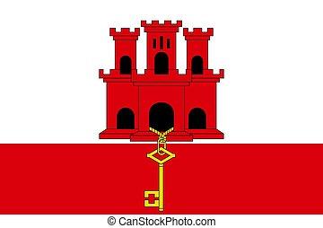 Simple flag of Gibraltar