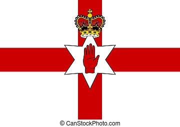 Simple flag of Northern Ireland
