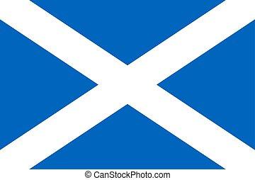 Simple flag of Scotland